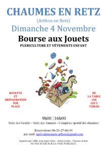 Bourse aux Jouets @ Stade des Chaumes